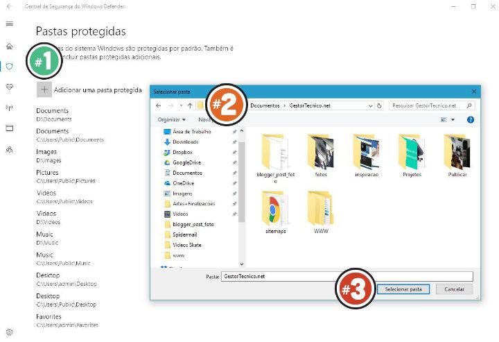 adicionar-pastas-protegidas-windows-defender