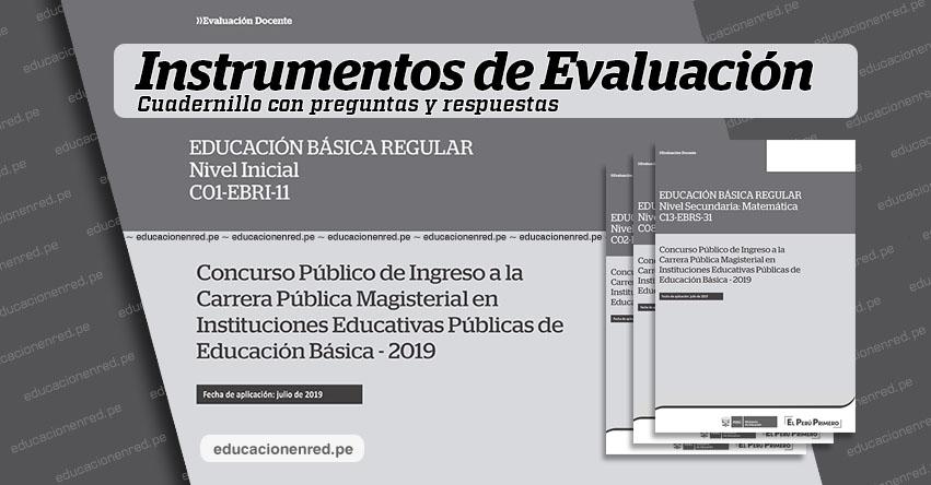 MINEDU publicó Claves del Examen de Nombramiento Docente 2019 (Hoja de Preguntas y Repuestas, Prueba Única Nacional) www.minedu.gob.pe