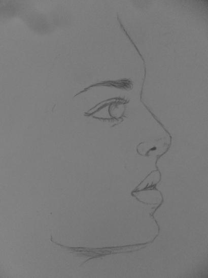 Arte Vicio Aprenda Como Desenhar Rosto Meio Perfil
