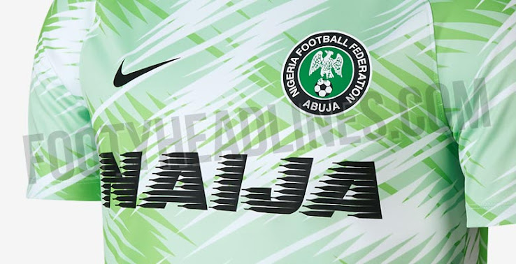 reputable site f14b8 b4ad0 Buy Spectacular Nike Nigeria 2018 World Cup Pre-Match Shirt ...