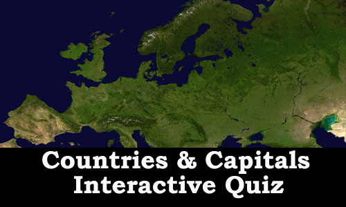 Interactive Quiz to learn countries and their capitals