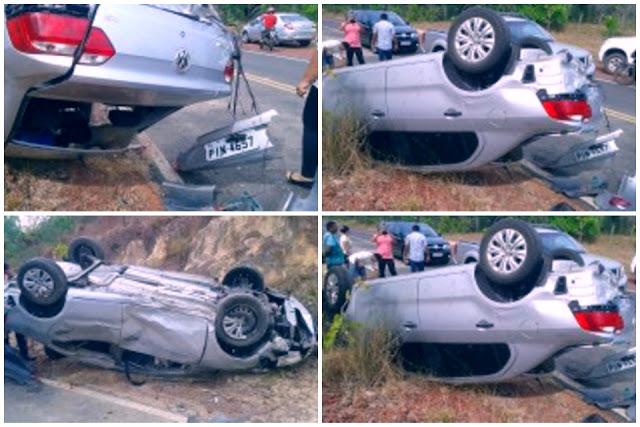 Médico sofre grave acidente automobilístico entre Barras e Batalha