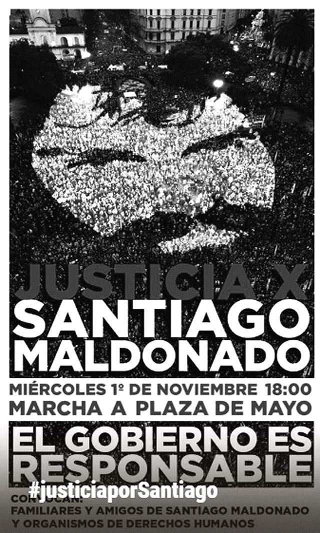 #JusticiaPorSantiago: a las 18 hs. en Plaza de Mayo y todas las plazas del país