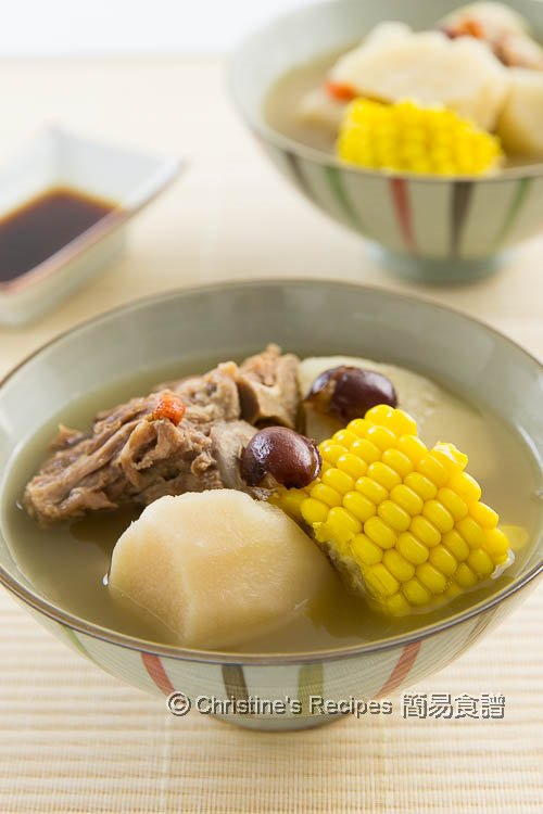 山藥排骨杞子湯 Chinese Yam Goji and Pork Ribs Soup01