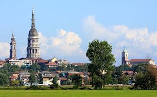 Novara: The tall cupola of the Basilicata di San Gaudenzio was designed by Alessandro Antonelli, who designed Turin's Mole