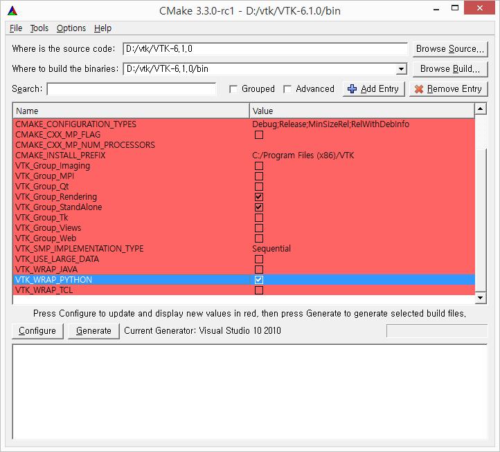 robotics & programming: how to setup vtk library on python