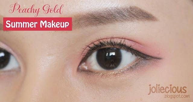 Peachy Gold Summer Makeup
