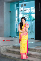 Actress Adah Sharma Exclusive Poshoot in Beautiful Yellow Silk Saree at Saree Niketan Showroom Launch  0008.jpg