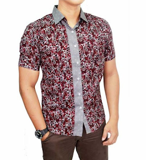 Baju Batik Pria Lengan Pendek Terbaru