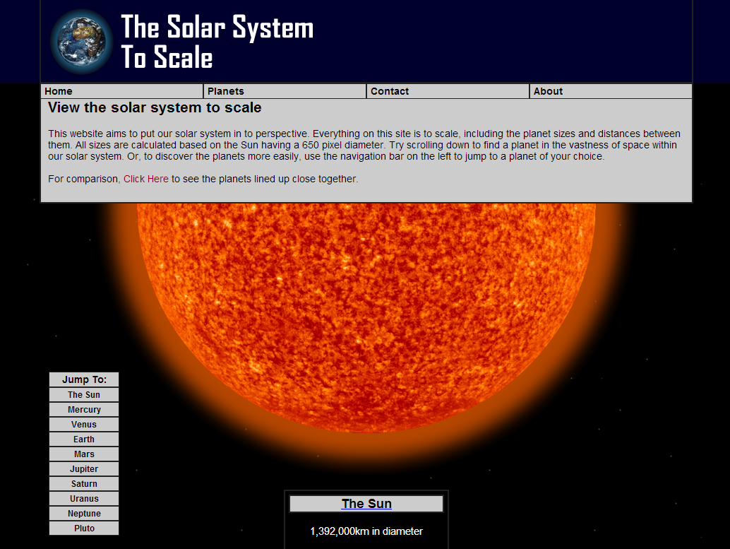 Solar System Scaled Down - Pics about space