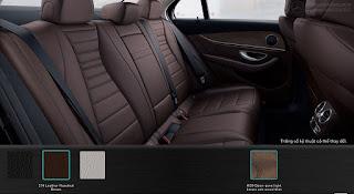 Nội thất Mercedes E200 2019 màu Nâu Hazelnut 214