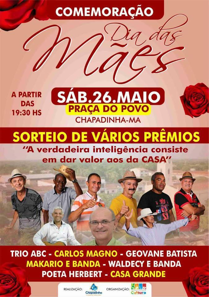 É hoje! Prefeitura de Chapadinha realiza Show das Mães na Praça do Povo