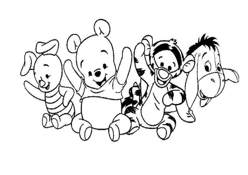 Dibujos Animados De Bebes Para Colorear: IMAGEN PARA COLOREAR TIGGER BEBE