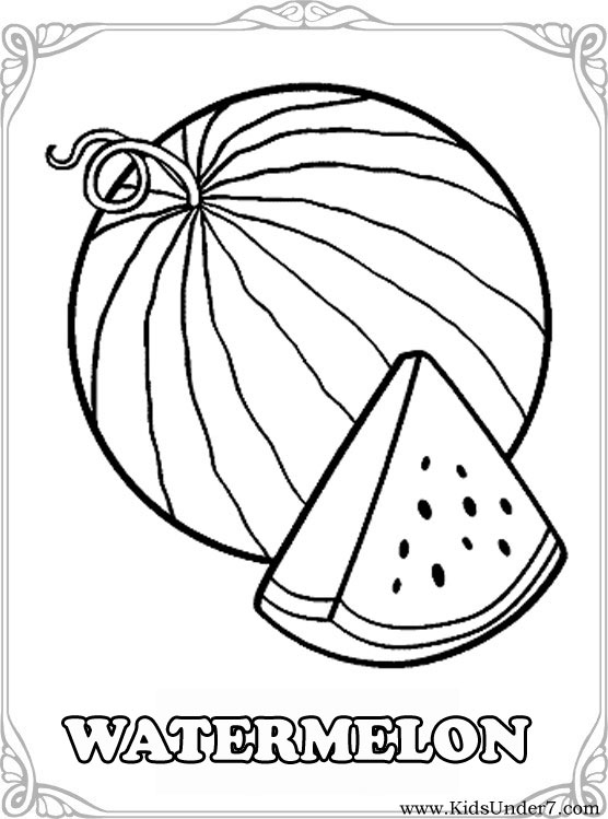 Fruits Color Trace And Draw Worksheet Preschool. Fruits