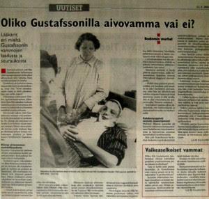 Photo de Nils parue dans un journal