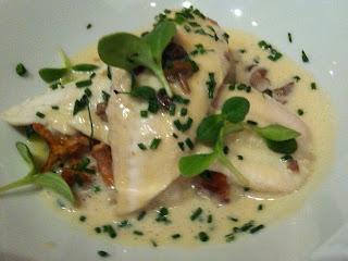 Fabulour fish dish at Auberge de Port Vallieres