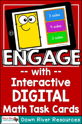 Down River Resources creates interactive digital task cards for kindergarten, first, and second grade math, hosted on Boom Learning. They are perfect to use during math centers, independent practice, and small group instruction time.