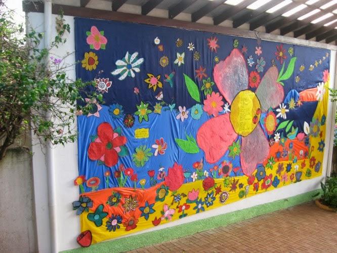 El arte de educar murales para la primavera for Concepto de periodico mural