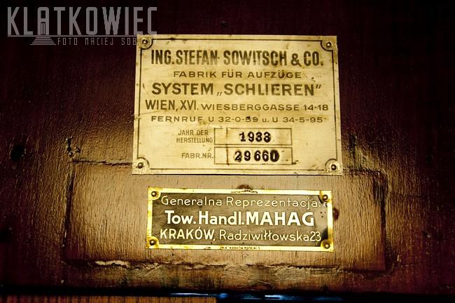 Kraków: winda Sowitsch z 1933 roku - cz. 2