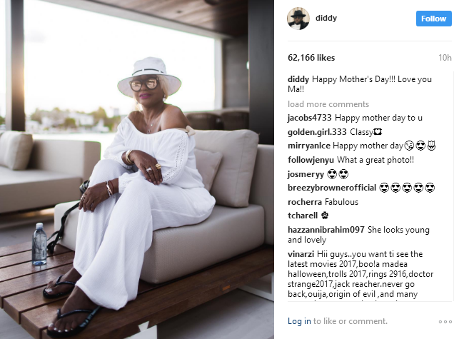 Happy Mother's day: Rapper, Diddy celebrates his mum and babymamas with special messages