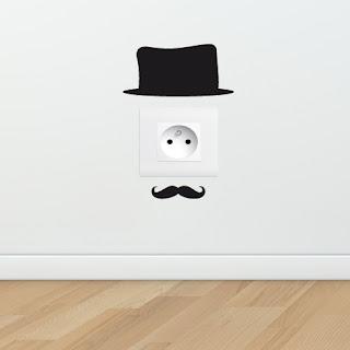 Stickers Chapeau pour prises électriques