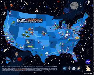 NASA partners with Gowalla - Search for The Moon Rocks