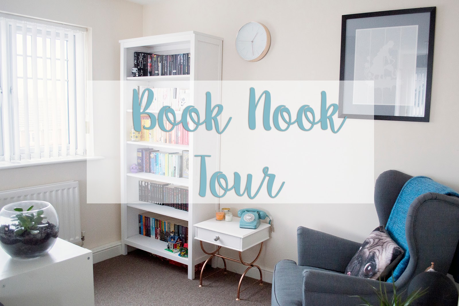 Book Nook, Home, interiors, bookshelf, booktube, bookblogger, book blogger