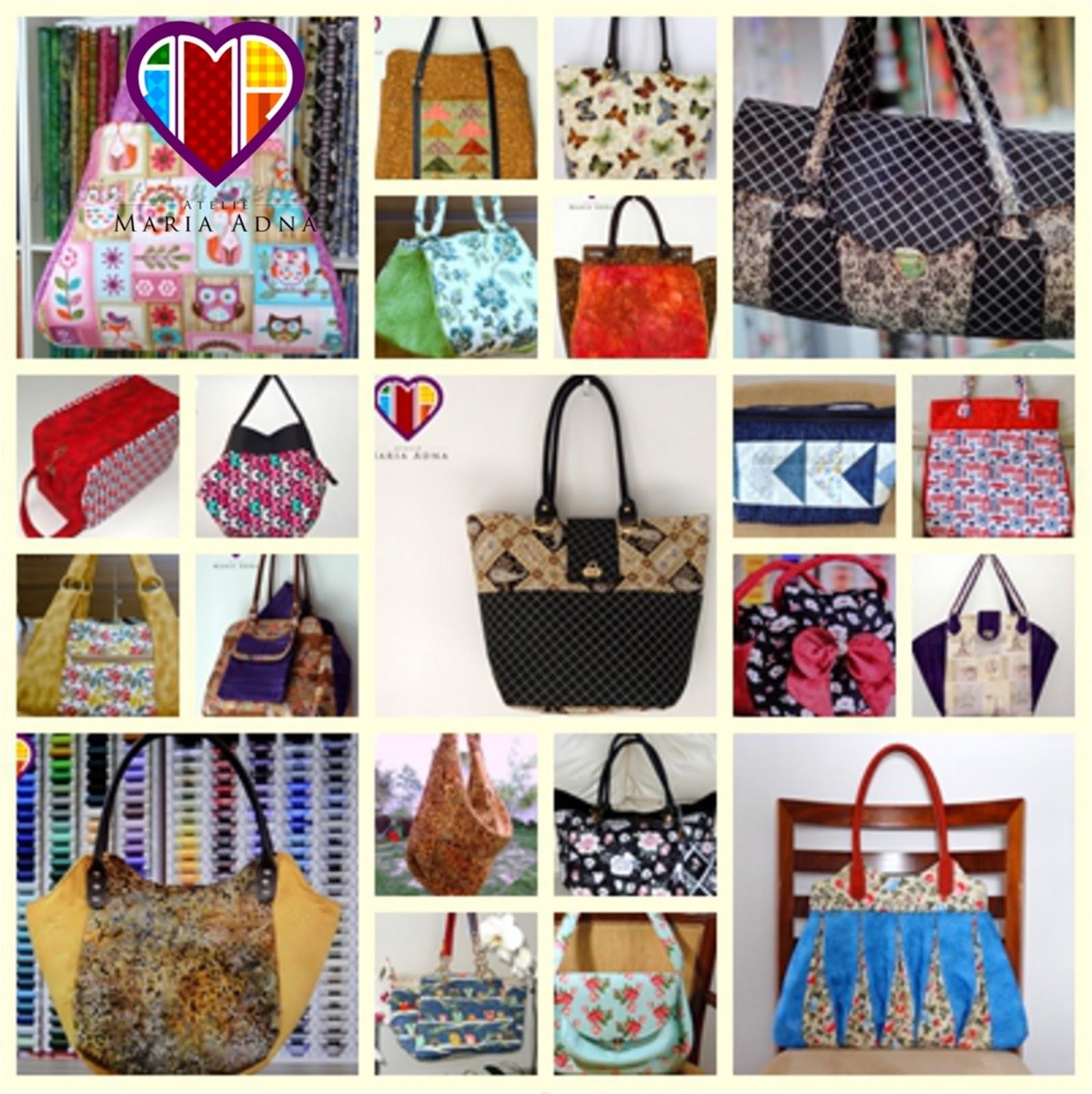 f897bad03 Maria Adna Ateliê: Cursos, aulas e vendas de bolsas. Tecidos ...
