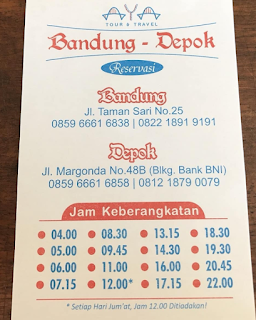 Jadwa Travel Bandung Depok