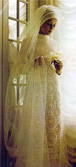 suknia ślubna szydełkiem