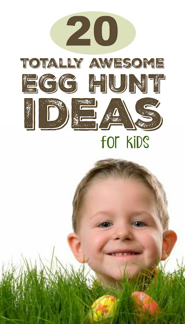 Easter egg hunt ideas for kids- these are AWESOME!