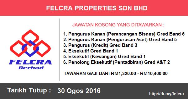 Jawatan Kosong di FELCRA Properties Sdn Bhd