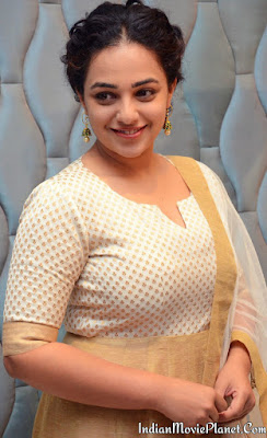 Nithya menon latest hot tight churidar stills