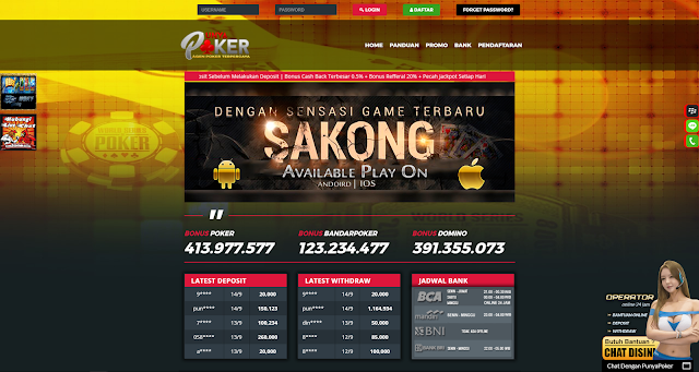 PunyaPoker Situs Pusat Poker V Online Poker BandarQ Domino QQ Online Terpercaya