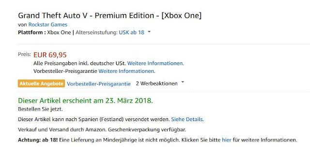 Se lista Grand Theft Auto V Premium Edition