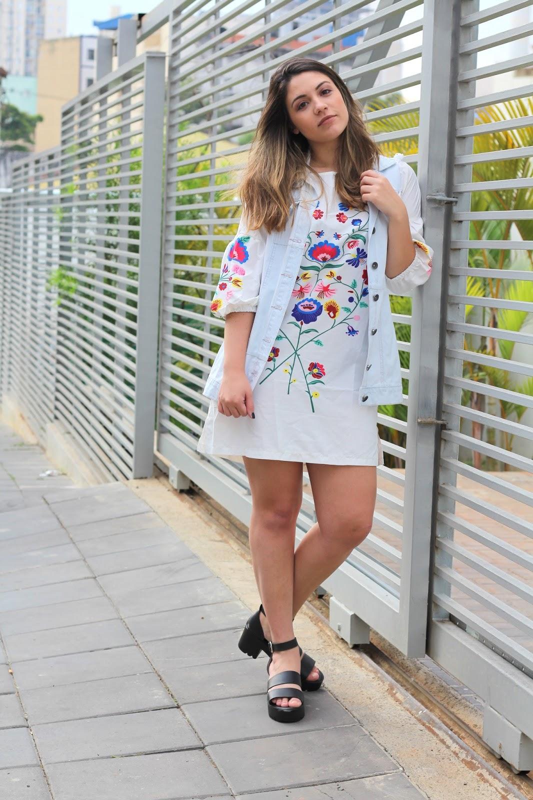 ana do dia look da ana vestido florido Rosegal lojas china