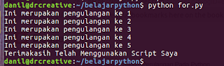 Tutorial Python - Perulangan Pada Python