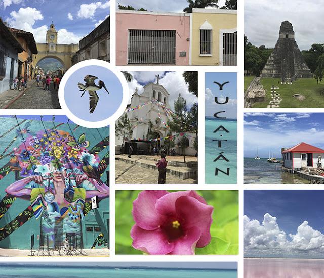 Mexico, Guatemala, Belize photo collage