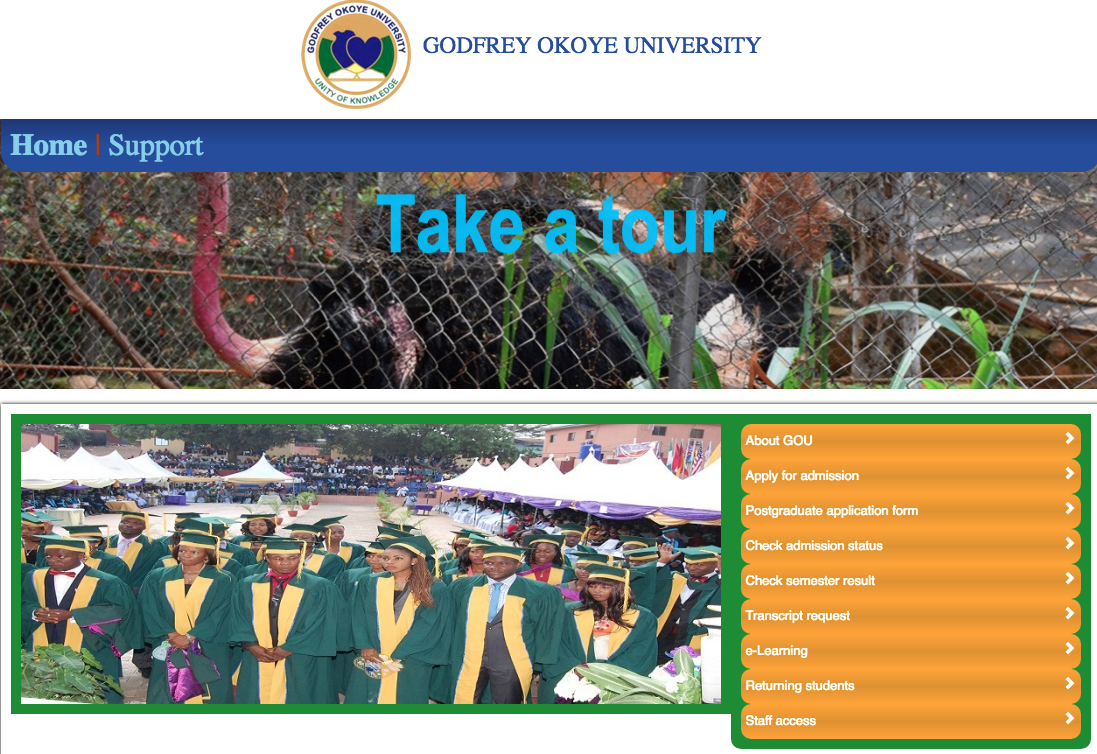 Godfrey Okoye University JUPEB Screening Form 2018