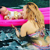 Tiny and 3 months old daughter, Heiress go swimming(Photos)