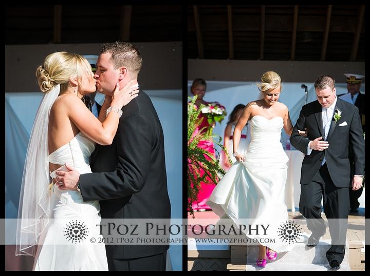 Chesapeake Inn wedding ceremony