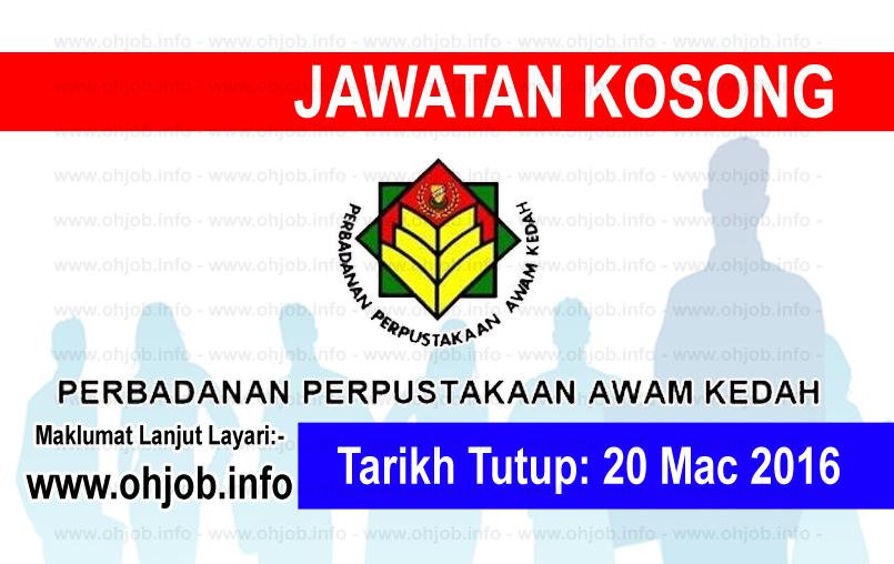 Jawatan Kerja Kosong Perbadanan Perpustakaan Awam Kedah logo www.ohjob.info mac 2016