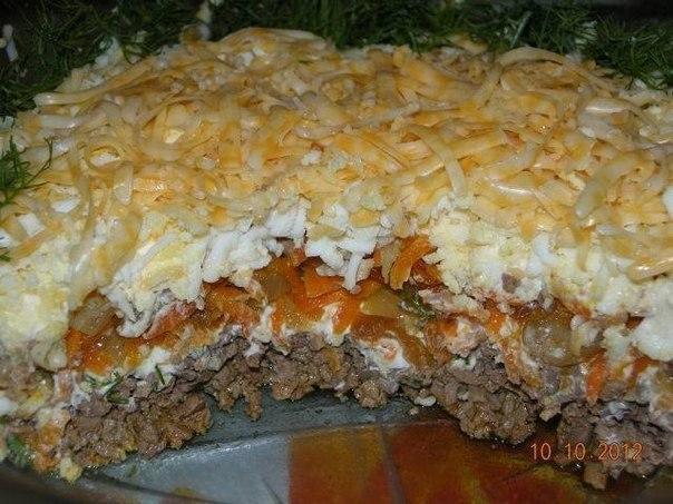 Салат с печени с фото