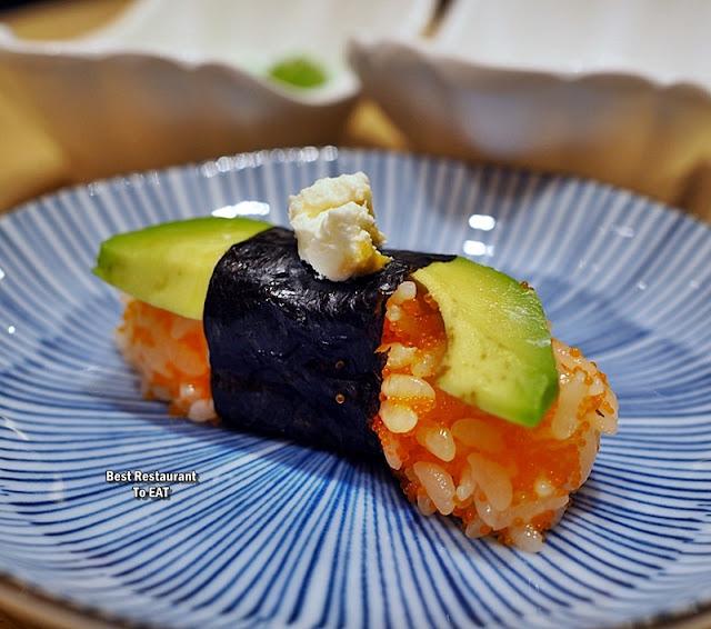 Make Your Own Sushi Menu - Avocado Sushi