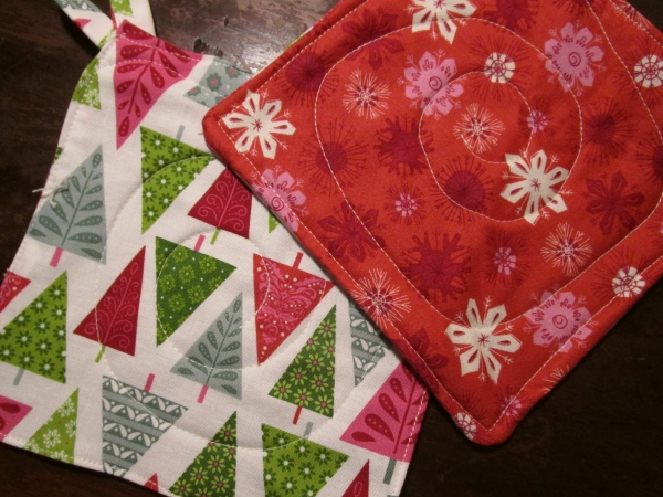 xmas pot holders - our handmade home