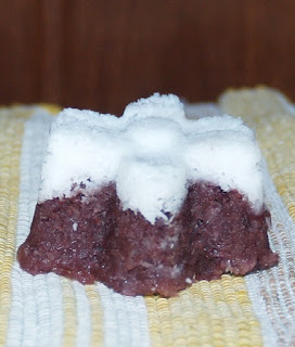 resep awuk-awuk ub ungu, olahan kue tradisional dari ubi ungu, kue bebas gluten, resep kue dari ubi ungu tanpa mixer