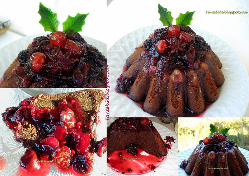Πουτίγκα σοκολάτας με σάλτσα κόκκινων φρούτων από την Αγγλία