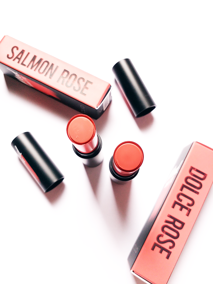Clio Mad Matte Lip Salmon Rose and Dolce Rose Review and Swatches