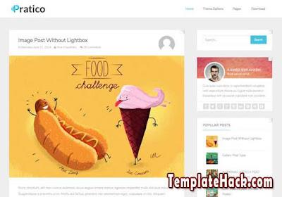 practico light blogger template