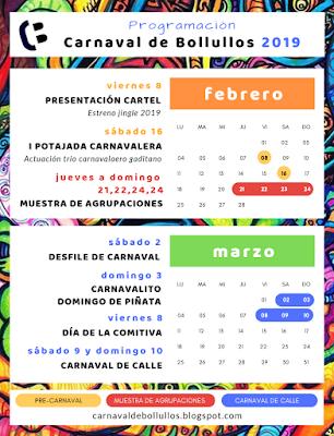 Programación del Carnaval 2019